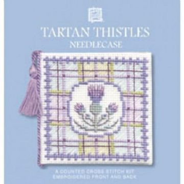 Tartan Thistle Needle Case Cross Stitch Kit